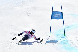 WALKER Tyler LW12-1 USA competing in ParaSkiAlpin, Para Alpine Skiing, Super G at PyeongChang2018 Winter Paralympic Games, South Korea.