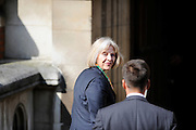 Home Secretary  Theresa May arrives at The Royal Courts of Justice in London, UK on May 29th 2012..Today the Home Secretary will give  evidence at The Leveson Inquiry into press standards at The High Court...Photo Ki Price