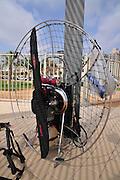 Israel, Sharon region, Netanya, parasail motor