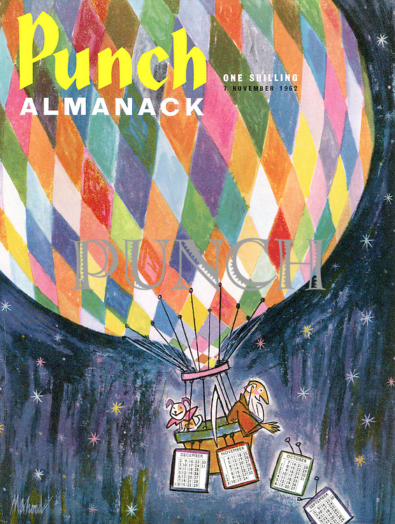 Punch Almanack (Front cover, 7 November 1962)