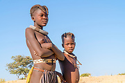 Young Himba teens, Kaokoland, Namibia, Africa