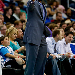 Feb 6, 2013; New Orleans, LA, USA; Phoenix Suns head coach Lindsey Hunter against the New Orleans Hornets during the second half of a game at the New Orleans Arena. The Hornets defeated the Suns 93-84. Mandatory Credit: Derick E. Hingle-USA TODAY Sports