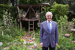© Licensed to London News Pictures. 20/05/2013. London, England. Nicholas Parson OBE at the NSPCC Garden of Magical Childhood. Celebrities at Press Day Monday of the RHS Chelsea Flower Show. Photo credit: Bettina Strenske/LNP