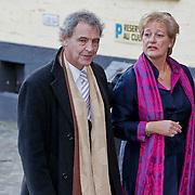 BEL/Brussel/20101120 - Huwelijk prinses Annemarie de Bourbon de Parme-Gualtherie van Weezel en bruidegom Carlos de Borbon de Parme, Roger van Boxtel en partner Judith van Emmerik