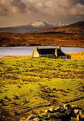 Croft cottage near Kintarvie, Isle of Harris, Outer Hebrides, Scotland<br /> <br /> (c) Andrew Wilson   Edinburgh Elite media