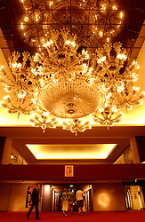 KNOKKE, BELGIUM - JULY-29-2005 - The grand chandelier at the Knokke Casino.  (Photo © Jock Fistick)
