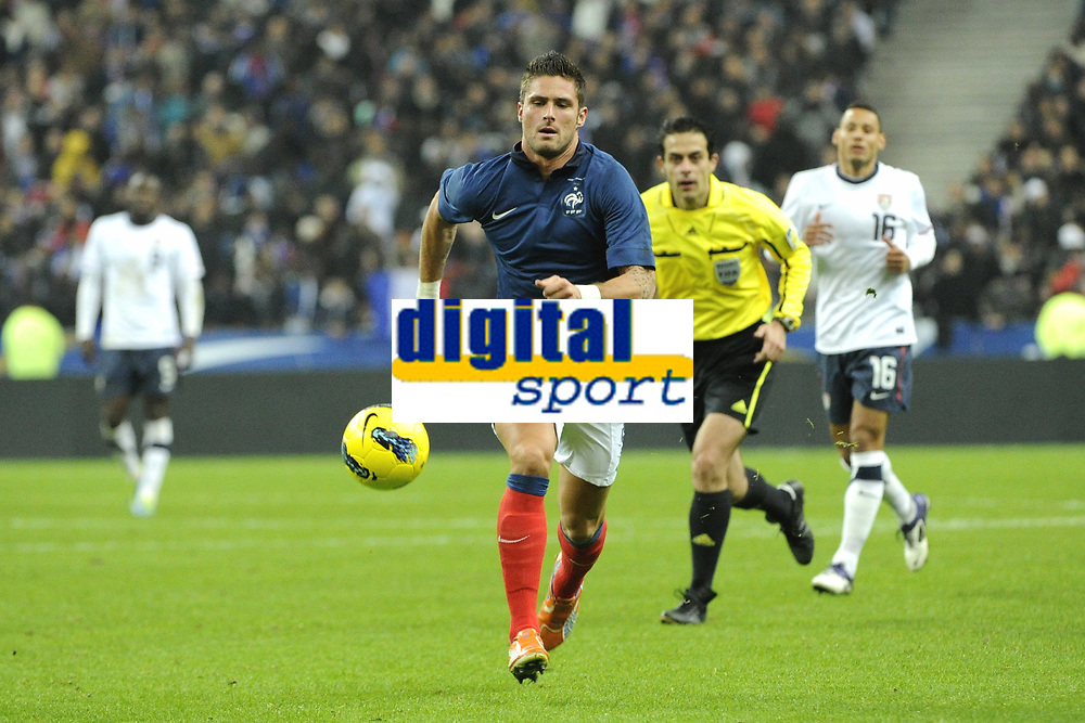 FOOTBALL - INTERNATIONAL FRIENDLY GAMES 2011/2012 - FRANCE v USA - 11/11/2011 - PHOTO JEAN MARIE HERVIO / DPPI - OLIVIER GIROUD (FRA)