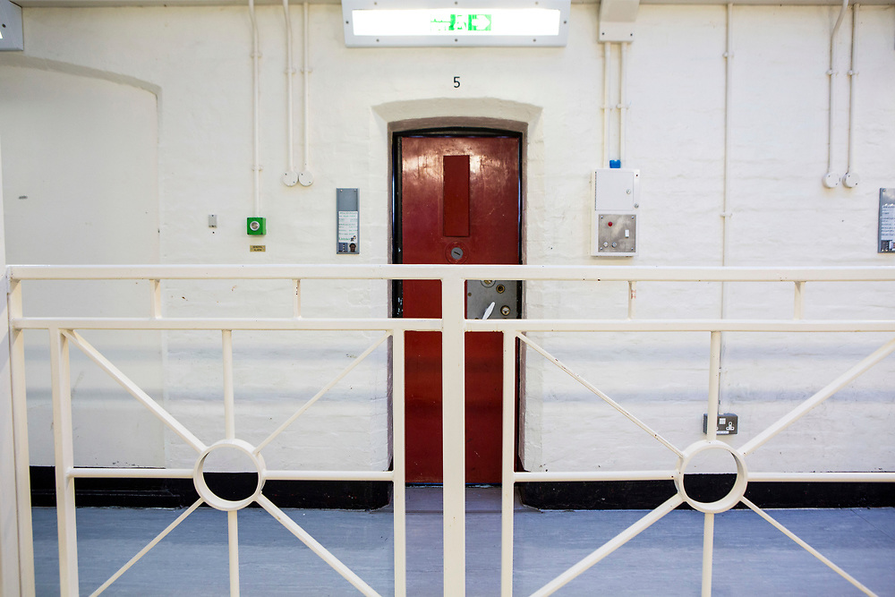 Cell number 5, 4th Floor, on Benbow wing inside HMP/YOI Portland, a resettlement prison with a capacity for 530 prisoners. Dorset, United Kingdom.