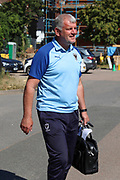 AFC Wimbledon first team coach Glyn Hodges arriving during the EFL Sky Bet League 1 match between AFC Wimbledon and Shrewsbury Town at the Cherry Red Records Stadium, Kingston, England on 14 September 2019.