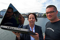 Ann Heneghan, (Solicitors Heneghan & Assoc., Joyce House Galway) with Richard Conroy Web Activator. Photo:Andrew Downes