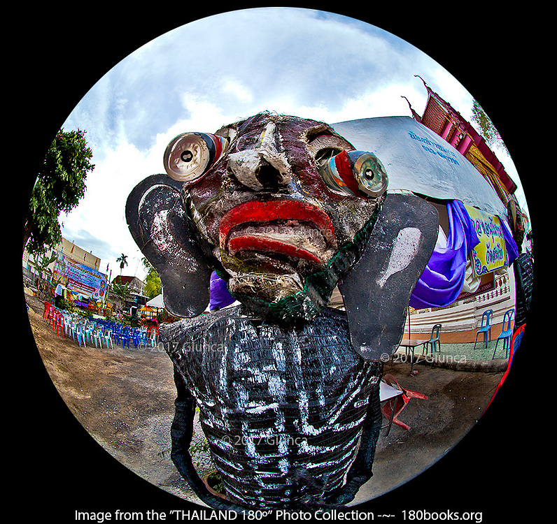 Pret, or Hungry Ghost statue in Nakhorn Si Thammarat