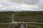 View over Kampen and the North Sea from Uwe-Du?ne, Sylt's highest elevation.
