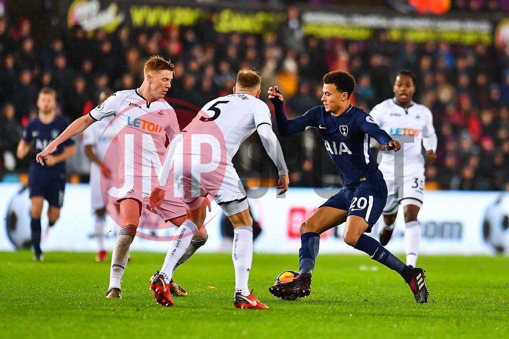 Dele Alli of Tottenham Hotspur in action - Mandatory by-line: Craig Thomas/JMP - 02/01/2018 - FOOTBALL - Liberty Stadium - Swansea, England - Swansea City v Tottenham Hotspur - Premier League