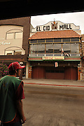 Business is slow along Calle Obregon in Nogales, Sonora, Mexico, across the border from Nogales, Arizona, USA.  Streets are mostly void of patrons as businesses in Nogales, Sonora, experience an economic decline as reports of cartel violence deter tourists and shoppers from entering the country.