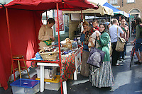 Shoppers at local market