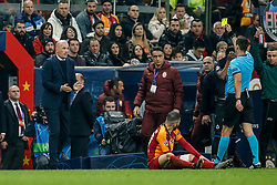 November 26, 2019, Galatasaray, Turkey: Club Brugge's head coach Philippe Clement receives a yellow card from the referee during a game between Turkish club Galatasaray and Belgian soccer team Club Brugge, Tuesday 26 November 2019 in Istanbul, Turkey, fifth match in Group A of the UEFA Champions League. (Credit Image: © Bruno Fahy/Belga via ZUMA Press)