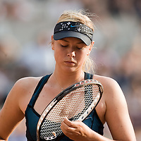 03 June 2007: Russian player Maria Sharapova is seen during the French Tennis Open fourth round match, won 3-6, 6-4, 9-7 by Maria Sharapova against Patty Schnyder, on day 8 at Roland Garros, in Paris, France.