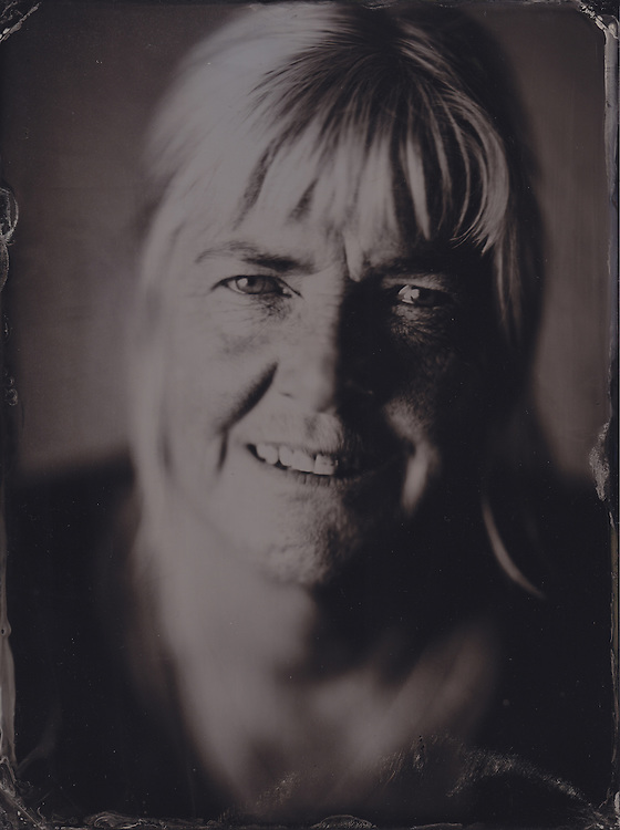 Judith, tintype portrait made with wetplate collodion process.