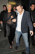 13.AUGUST.2009 - LONDON<br /> <br /> SARAH HARDING WHO WAS WEARING A SEE THROUGH TOP LEAVING NOBU RESTAURANT, BERKLEY SQUARE WITH BOYFRIEND TOM CRANE AND HEADED ONTO MAHIKI CLUB, MAYFAIR WHERE SHE STAYED TILL 12.45AM AND THEN WENT BACK TO HER HOTEL TO CARRY ON PARTYING.<br /> <br /> BYLINE MUST READ : EDBIMAGEARCHIVE.COM<br /> <br /> *THIS IMAGE IS STRICTLY FOR UK NEWSPAPERS &amp; MAGAZINES ONLY*<br /> *FOR WORLDWIDE SALES &amp; WEB USE PLEASE CONTACT EDBIMAGEARCHIVE - 0208 954-5968*