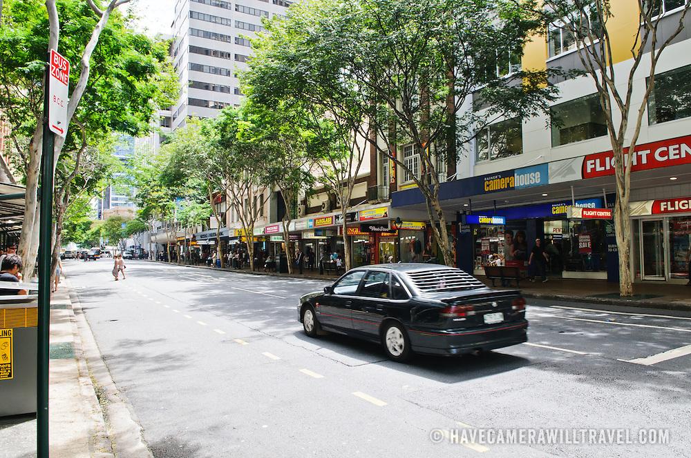 Shops on Adelaide Street in Brisbane City