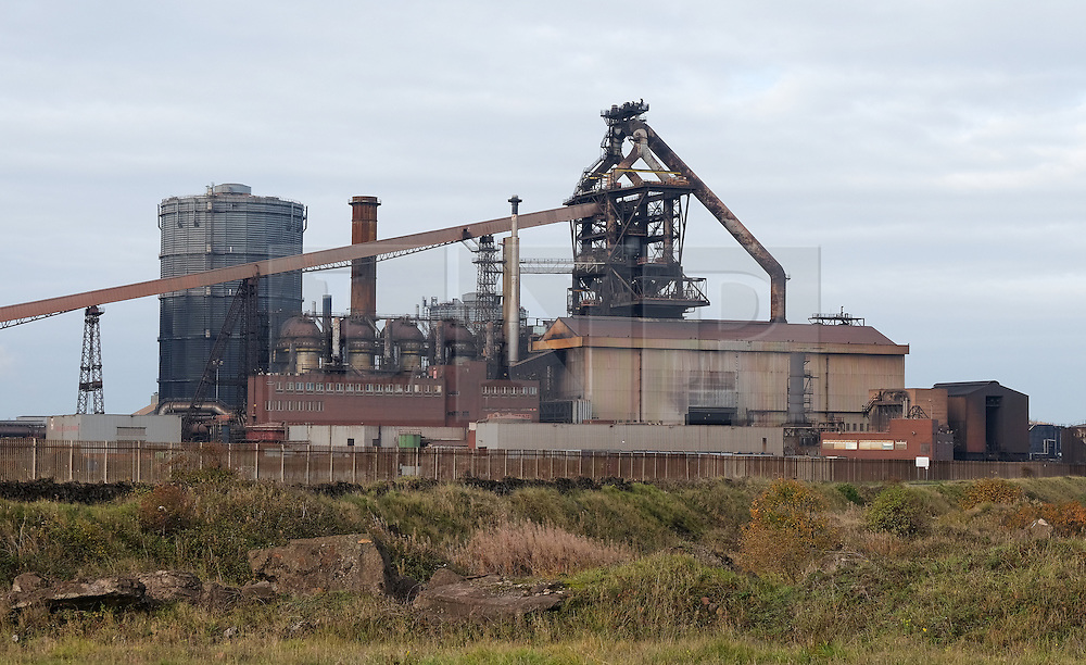 © Licensed to London News Pictures.20/10/15<br /> Redcar, UK. <br /> <br /> The SSI UK steel blast furnace which has recently closed in Redcar, England. The closure of the site marks the end of 170 years of steel making heritage on Teesside and was the first of a number of recent closures of steel making plants across the UK.<br /> <br /> Photo credit : Ian Forsyth/LNP