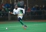 Canterbury's Kwan Browne against Surbiton in the NOW: Pension Men's Hockey League Premier Division, Polo Farm, Canterbury, Kent, 22nd November 2014.