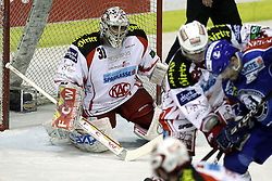 "15.03.2012, Dom Sportova, Zagreb, CRO, EBEL, KHL Medvescak Zagreb vs EC KAC, Playoff, Halbfinale, 5. Spiel, im Bild Andy Chiodo, (EC KAC, #31) // during the semifinal Match of ""Erste Bank Icehockey League"", fith encounter between KHL Medvescak Zagreb and EC KAC at Dom Sportova, Zagreb, Croatia on 2012/03/15. EXPA Pictures © 2012, PhotoCredit: EXPA/ Pixsell/ Goran Stanzl      ATTENTION - OUT OF CRO, SRB, MAZ, BIH and POL *****"