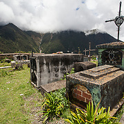 Graveyard in Marcapata, Peru along the Interoceanica Sur highway between Cusco and Puerto Maldonado, Peru. A 430 kilometer section of the transcontinental Interoceanic Highway that crosses Peru and Brazil.