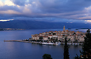 CROATIA: Korcula.The island capital of Korcula Town