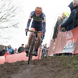 12-01-2020: Wielrennen: NK Veldrijden: Rucphen<br />Maik van der Heijden