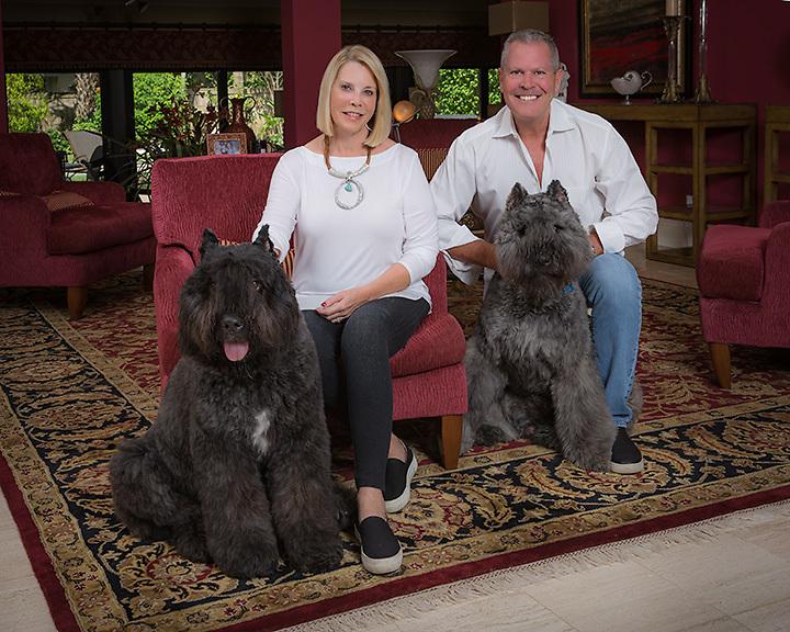 Family portrait, Ginger & Woody Kahn, Jett & Myles
