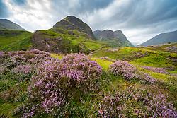 View of Beinn Fhada, part of Bidean Nam Bian also known as the Three Sisters of Glencoe, Highland Region, Scotland, UK