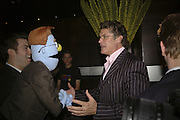 Jon robyns ( rod) and David Hasselhof.  Opening night of Cameron Mackintosh's new production 'Avenue Q' after-party at Mint Leaf. Suffolk Pl. London. 28 June 2006. ONE TIME USE ONLY - DO NOT ARCHIVE  © Copyright Photograph by Dafydd Jones 66 Stockwell Park Rd. London SW9 0DA Tel 020 7733 0108 www.dafjones.com