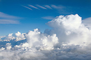 Cumulus Clouds at high altitude
