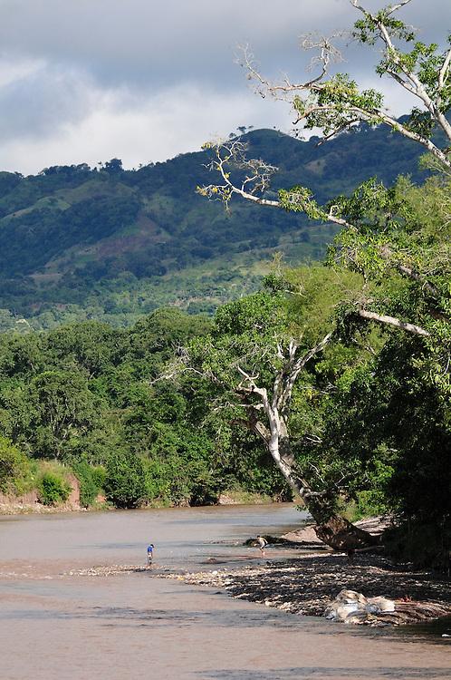 Copan River,Copan Ruinas, Central America, Honduras.