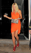 07.SEPTEMBER.2011. LONDON<br /> <br /> GWYNETH PALTROW LEAVING THE MAYFAIR ARTS CLUB AFTER ATTENDING A COACH & GWYNETH PALTROW DINNER TO CELEBRATE THE 70TH ANNIVERSARY OF THE BAG COMPANY, WHILE HUSBAND CHRIS MARTIN LEFT THROUGH A DIFFERENT DOOR AND RAN UP THE STREET FOR 5 MINUTES BEFORE JUMPING IN CAR WITH HIS WIFE..<br /> <br /> BYLINE: EDBIMAGEARCHIVE.COM<br /> <br /> *THIS IMAGE IS STRICTLY FOR UK NEWSPAPERS AND MAGAZINES ONLY*<br /> *FOR WORLD WIDE SALES AND WEB USE PLEASE CONTACT EDBIMAGEARCHIVE - 0208 954 5968*
