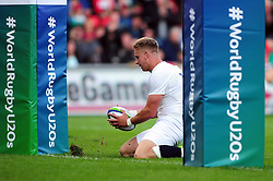 Harry Mallinder of England U20 scores his second try of the match - Mandatory byline: Patrick Khachfe/JMP - 07966 386802 - 25/06/2016 - RUGBY UNION - AJ Bell Stadium - Manchester, England - England U20 v Ireland U20 - World Rugby U20 Championship Final 2016.