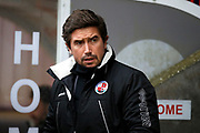 Crawley Town manager Harry Kewell during the EFL Sky Bet League 2 match between Crawley Town and Grimsby Town FC at the Checkatrade.com Stadium, Crawley, England on 10 February 2018. Picture by Andy Walter.