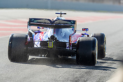February 18, 2019 - Montmelo, Catalonia, Spain - Daniil Kvyat of Scuderia Toro Rosso Honda seen in action during the afternoon session of the first day of F1 Test Days in Montmelo circuit. (Credit Image: © Javier MartíNez De La Puente/SOPA Images via ZUMA Wire)