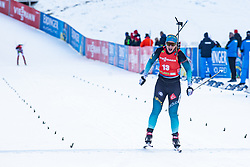 Anais Bescond (FRA) during the Mass Start Women 12,5 km at day 4 of IBU Biathlon World Cup 2019/20 Pokljuka, on January 23, 2020 in Rudno polje, Pokljuka, Pokljuka, Slovenia. Photo by Peter Podobnik / Sportida
