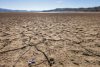 Lake Mendocino, December 13, 2013, drought conditions.