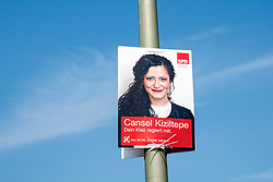 Election poster for SPD, Social Democratic Party of Europe, party in Berlin Germany August 2017.