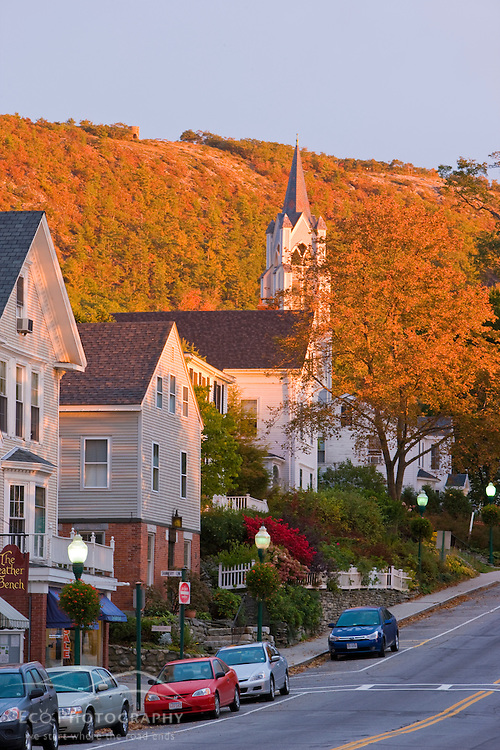 Main Street, Camden, Maine, fall.