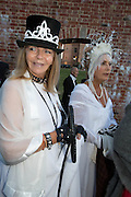 ADRIANNE HUNTER; JOSE FONSECA; , Richard Taylor's 69th birthday party.  Whithurst Park. West Sussex.  3 August 2013