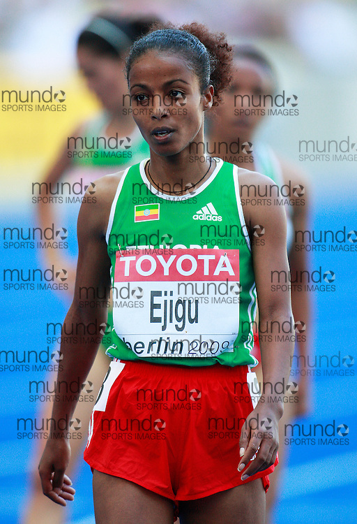 Berlin 2009 World Championships -August 19 - Day Five - Morning Session *** Local Caption *** Sentayehu Ejigu - 5000m Ethiopia