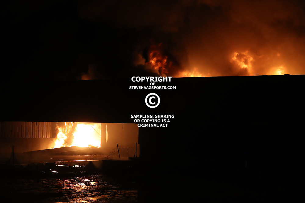 General views during a Massive fire engulfs Durban warehouse 151 South Coast Road in Bayhead Bluff Durban,24 March 2017 (Steve Haag)