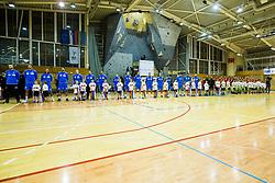 Slovenian national team during friendly handball match between national teams Slovenia and Montenegro on 4th Januar, 2020, Trbovlje, Slovenia. Photo By Grega Valancic / Sportida