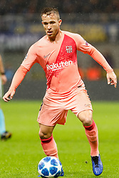 November 6, 2018 - Milan, Italy - Arthur of Barcelona in action during the Group B match of the UEFA Champions League between FC Internazionale and FC Barcelona on November 6, 2018 at San Siro Stadium in Milan, Italy. (Credit Image: © Mike Kireev/NurPhoto via ZUMA Press)