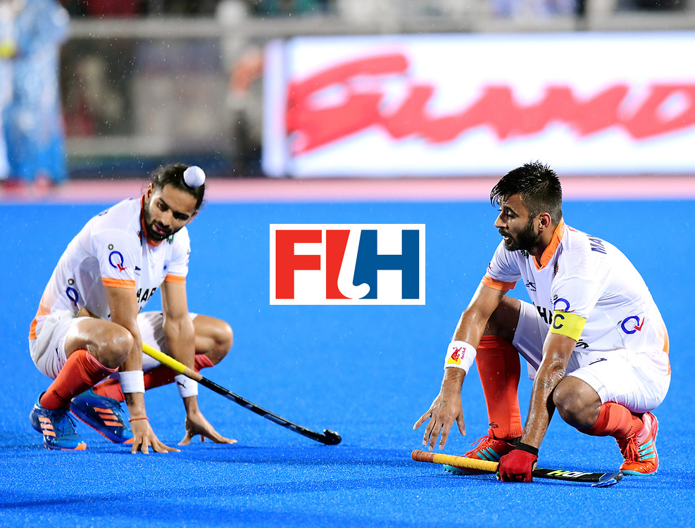 Odisha Men's Hockey World League Final Bhubaneswar 2017<br /> Match id:19<br /> India v Argentina<br /> Foto: Argentina wins the Semi Final From India.<br /> Akashdeep Singh (Ind) and Alan Andino (Arg) <br /> COPYRIGHT WORLDSPORTPICS FRANK UIJLENBROEK