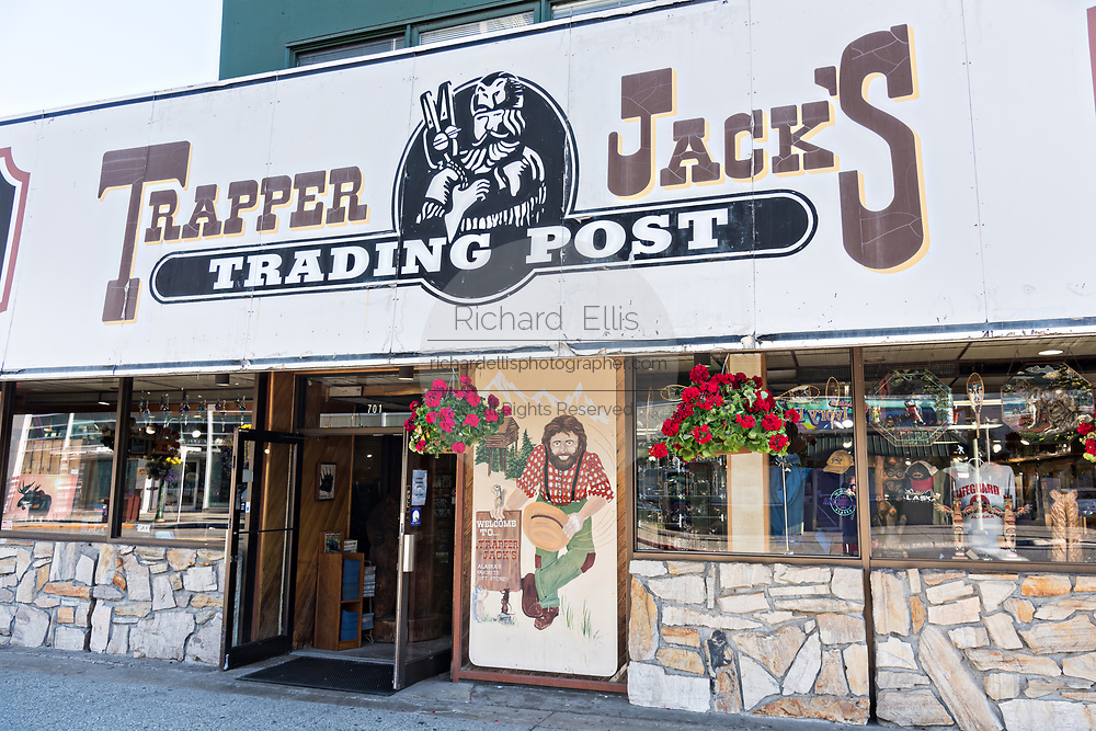 Trapper Jacks Trading Post on West 4th Avenue in downtown Anchorage, Alaska.